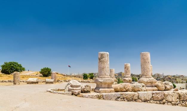 Rovine della cittadella di amman in giordania