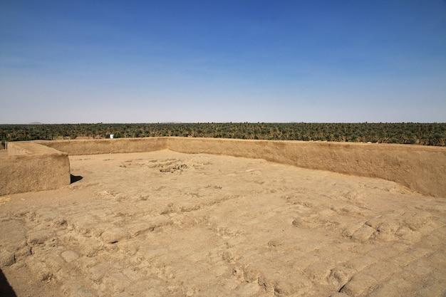 Rovine dell'antico tempio egizio a sesebi, sudan
