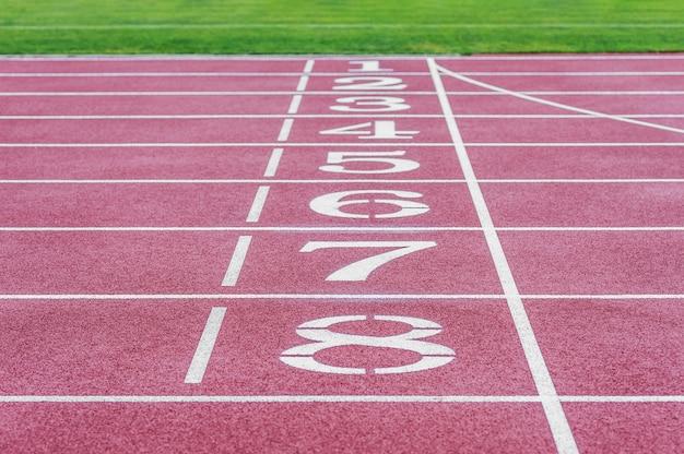 Stadio in esecuzione. concetto sul tema dello sport.