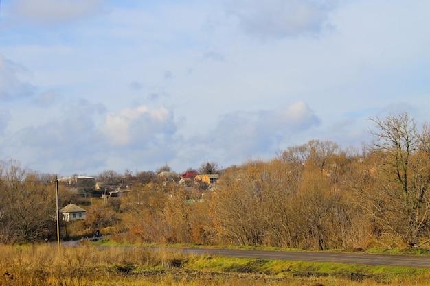 Paesaggio rurale in autunno