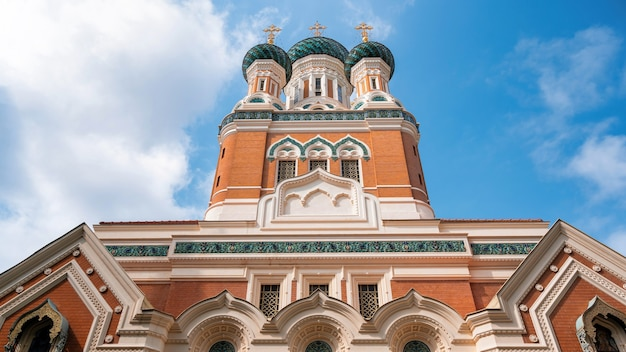 Cattedrale ortodossa russa a nizza, francia