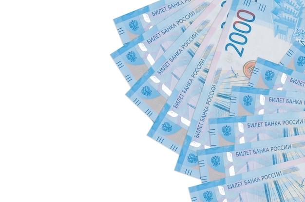Le fatture dei rubli russi si trovano isolate