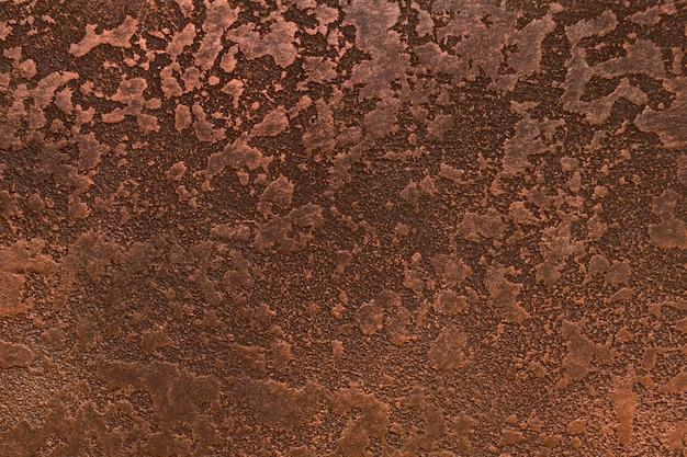 Ruggine su metallo con aspetto ruvido