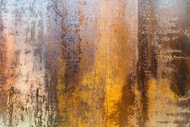 Struttura della superficie metallica arrugginita