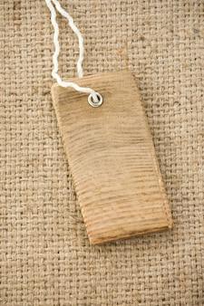 Struttura e cartellino del prezzo della tela da imballaggio del sacco