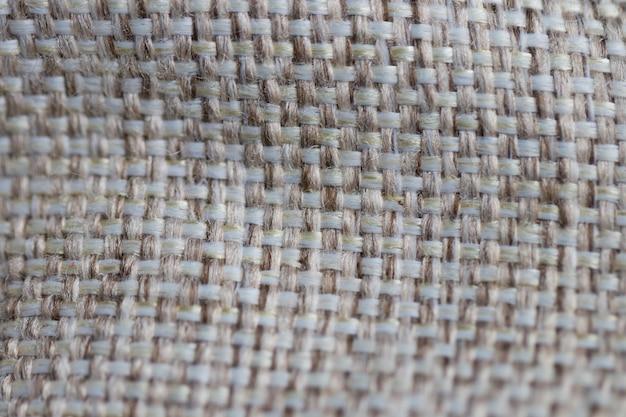 Sacco tessuto texture pattern di sfondo crema chiaro giallo beige terra tonalità di colore