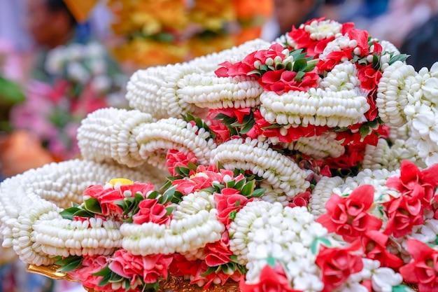 Gli oggetti del sacrificio per l'evento religioso del sacrificio thailandese, nel nord della thailandia.