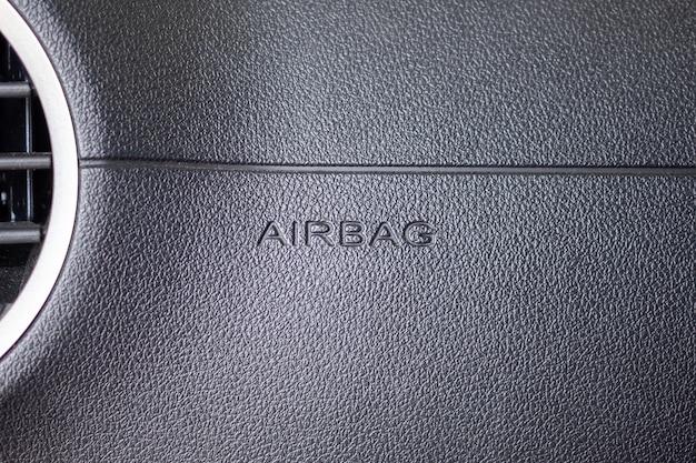 Segno di airbag di sicurezza in auto