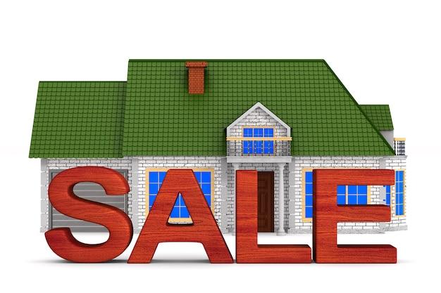 Casa in vendita su uno spazio bianco