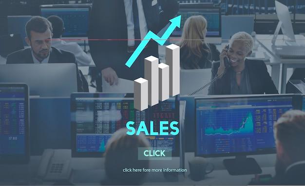 Vendita vendita vendita costi commerciali profitto retail concept