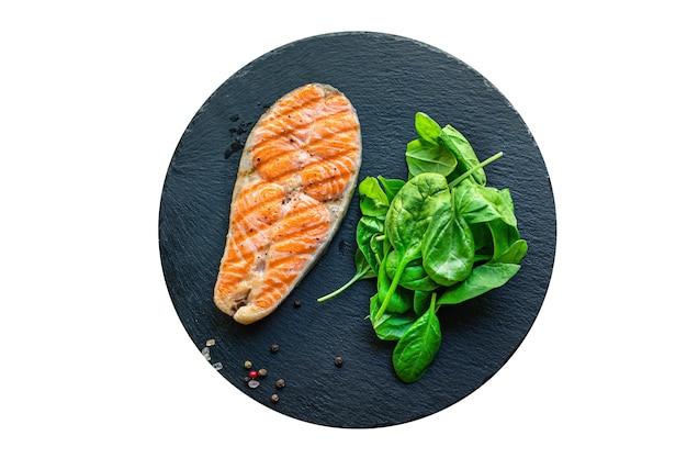 Salmone alla griglia pesce fritto barbecue grill barbecue frutti di mare omega snack pronti da mangiare