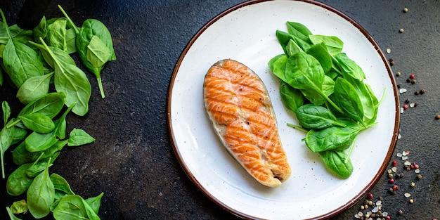 Pesce fritto salmone rosso barbecue grill barbecue pesce alla griglia spuntino pronto da mangiare