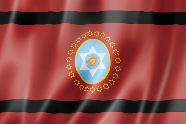 Bandiera della provincia di salta, collezione di striscioni d'ondeggiamento dell'argentina. illustrazione 3d