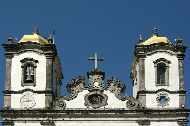 Salvador, brasile - gennaio 2017: igreja nosso senhor do bonfim chiesa, salvador (salvador de bahia), bahia, brasile, sud america.