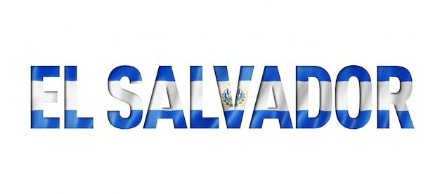 Carattere di testo bandiera salvadoregna