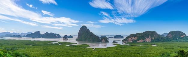 Samet nangshe viewpoint paesaggio di montagna della baia di phang nga phuket thailand