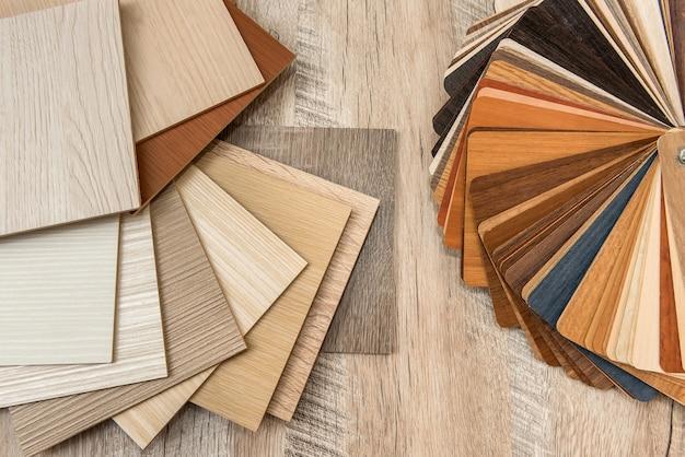 Struttura del materiale del campionatore per interni di design di mobili. catalogo pavimenti per la decorazione della casa