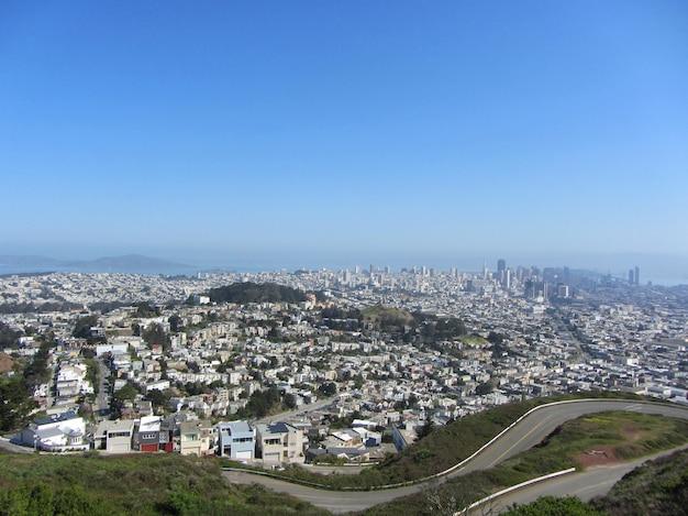 San francisco, california, stati uniti d'america, san francisco vista da twin peaks.