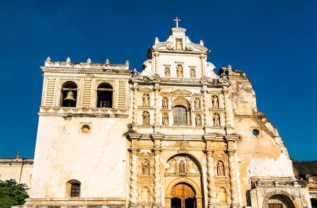 Chiesa di san francisco in antigua guatemala, america centrale