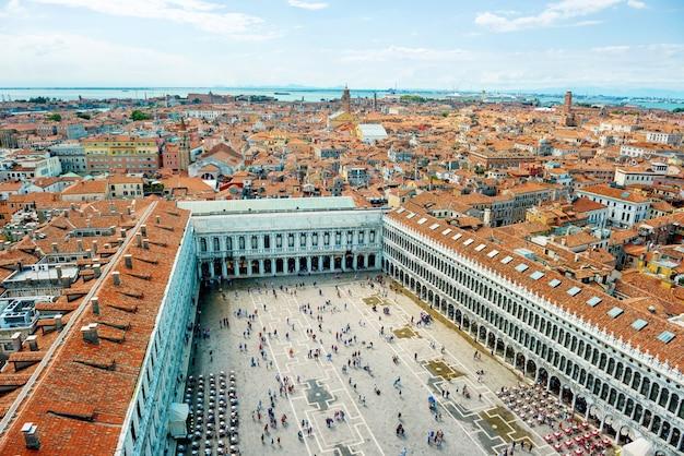 Piazza san marco dal campanile di venezia italy