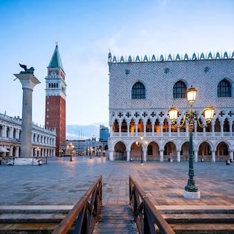 Piazza san marco al mattino, venezia italia.