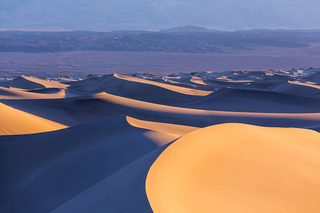 Dune di sabbia nel parco nazionale della valle della morte, california, usa