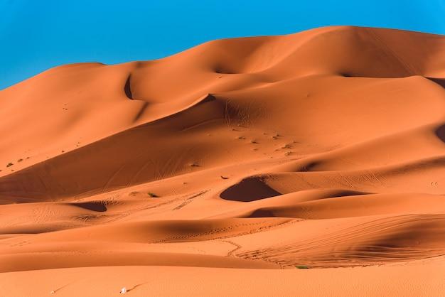 Dune di sabbia nel deserto del sahara