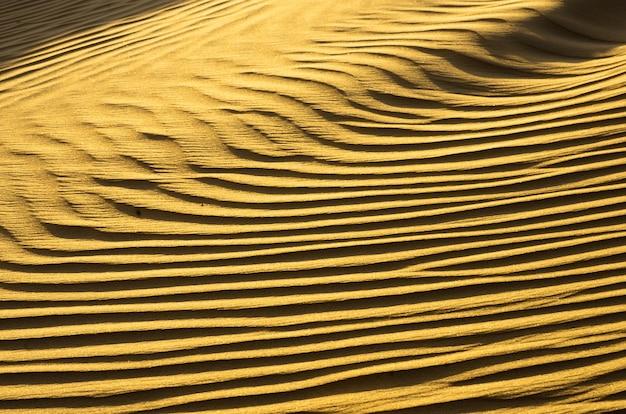 Struttura della sabbia nel deserto dell'oro
