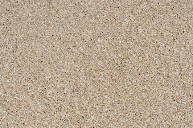 Sfondo spiaggia di sabbia. trama di sabbia dettagliata. vista dall'alto, primo piano
