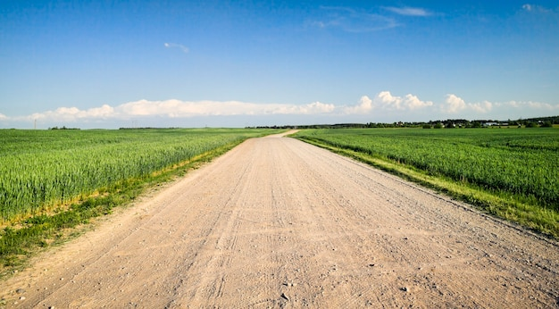 Strada sabbiosa per auto