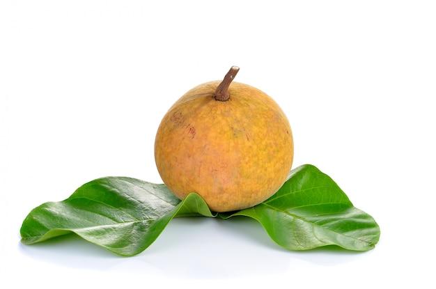 Frutta santol isolata su bianco