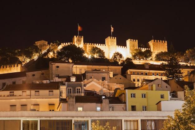Castello di sao george nel centro di lisbona, portogallo