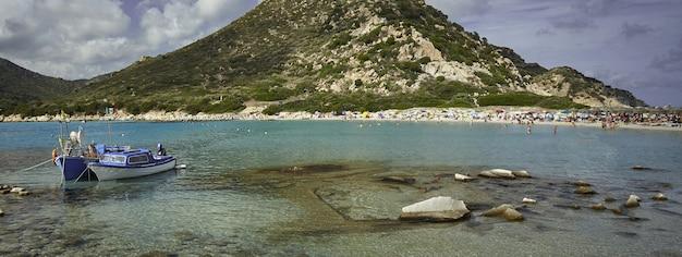 Banner spiaggia sardegna, immagine banner con spazio copia