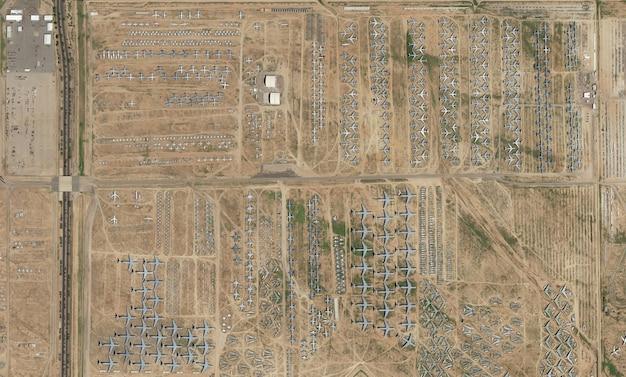 Trama di vista dall'alto satellitare sull'arizona