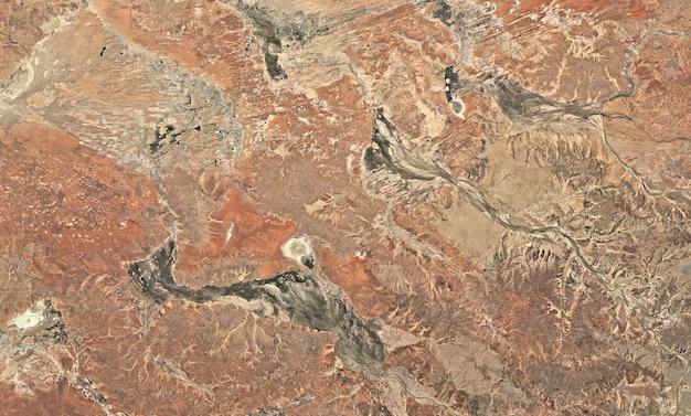 Texture di vista dall'alto satellitare sopra l'australia
