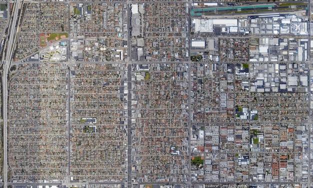 Trama di vista dall'alto satellitare sulla california
