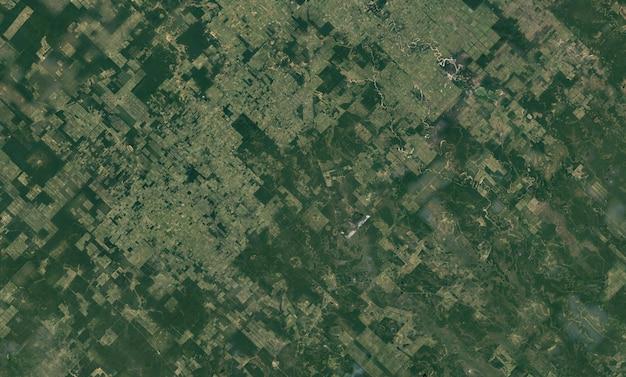 Struttura di vista dall'alto satellitare sul paraguay