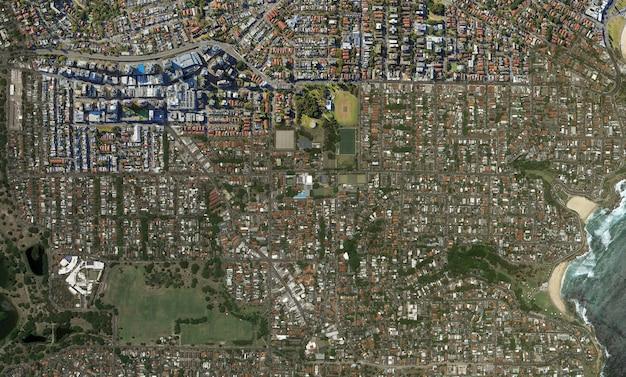 Trama di vista dall'alto satellitare su sidney