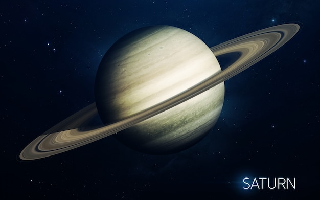 Saturno - pianeti del sistema solare in alta qualità. carta da parati scientifica.