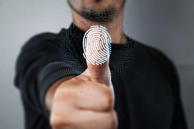 Scansione di un'impronta digitale per l'identificazione