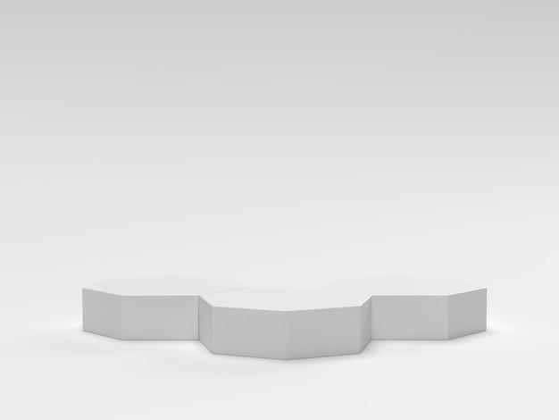 Scena sfondo cosmetico del podio geometrico minimo per la presentazione del prodotto