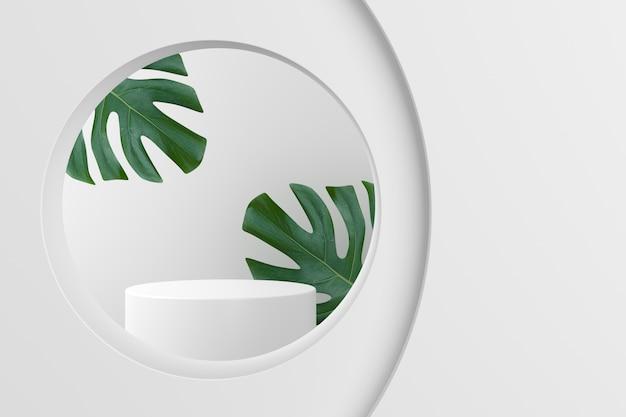 Scena per la visualizzazione del prodotto. rendering 3d