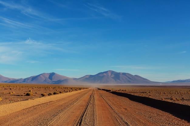 Paesaggi panoramici del nord dell'argentina