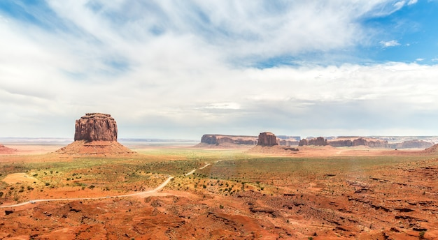 Scenario paesaggio di arenarie a monument valley