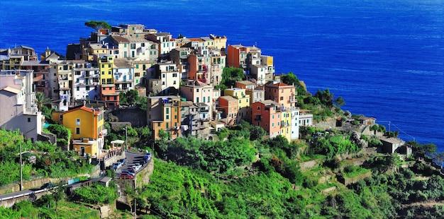 Pittoresco villaggio in cinque terre, italia, parco nazionale delle cinque terre