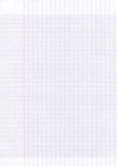 Fondo di struttura del foglio di carta foderato di scuola.