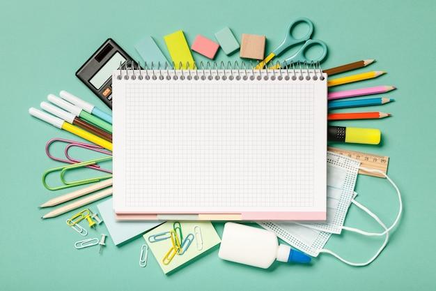 Sfondo di materiale scolastico
