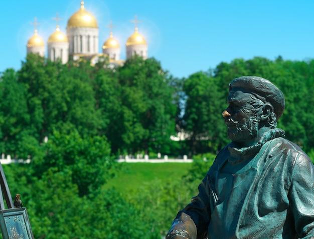 Scultura di sfondo artistico pittore russo