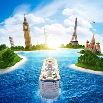 Crociera in mare per europa e paesi del mondo