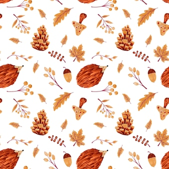 Seamless pattern autunnale
